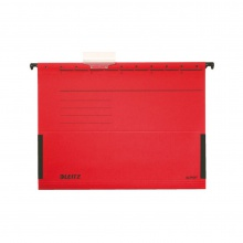 Závesný obal Leitz ALPHA s bočnicami červený