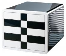 Zásuvkový iBox zatvorený čierna/čierna-biela